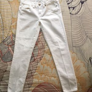 J. Crew Toothpick Jeans White size 27 Ankle